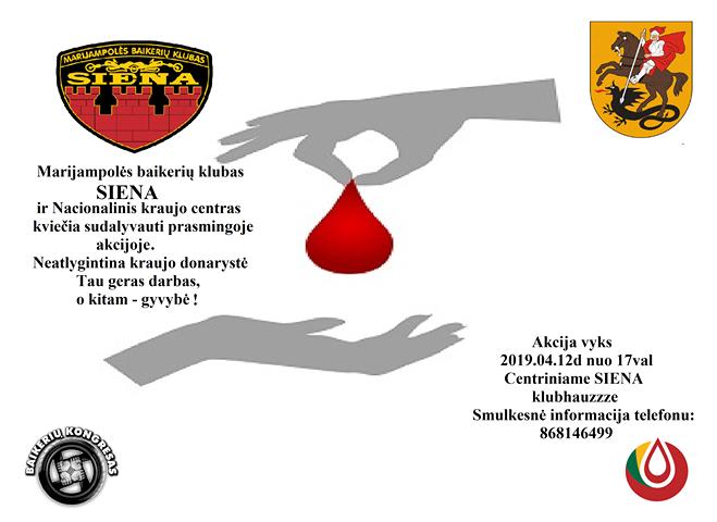 Neatlygintina kraujo donorystė tau geras darbas, o kitam gyvybė!